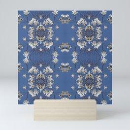 Star-filled sky (Star Magnolia flowers!) - diamond repeating pattern Mini Art Print