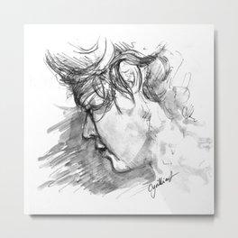 Haz Sketch Metal Print