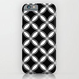 Large Black Geometric Interlocking Circles iPhone Case