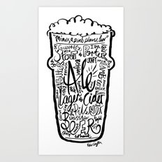 For the Love of Beer Art Print