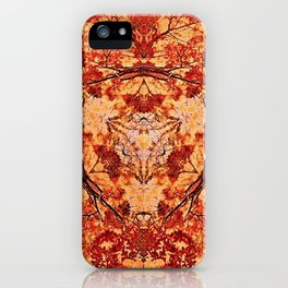 Red Flora iPhone Case