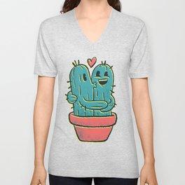 Cactus Couple Unisex V-Neck