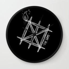 THE GAME_BLACK Wall Clock