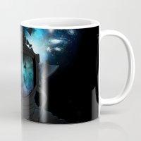 big bang Mugs featuring Big Bang by angrymonk