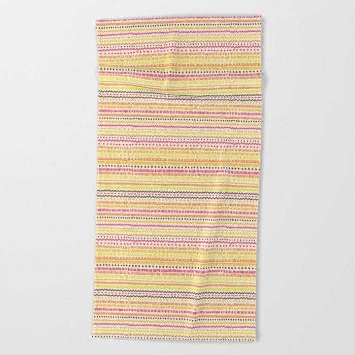 Summer Pattern Beach Towel