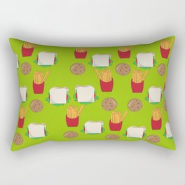 "Lunch Time - 'My Brother Makes Me Laugh"" series Rectangular Pillow"