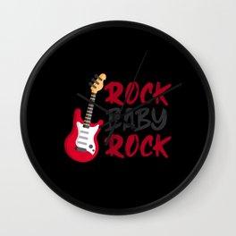 Rock Baby Rock Wall Clock