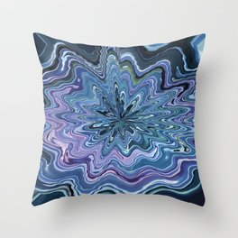 Star marble turquoise violet Design Throw Pillow