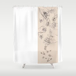 Losing Grip Shower Curtain