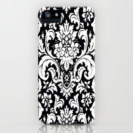 Damask Paisley Black and White Paisley Pattern Vintage iPhone Case