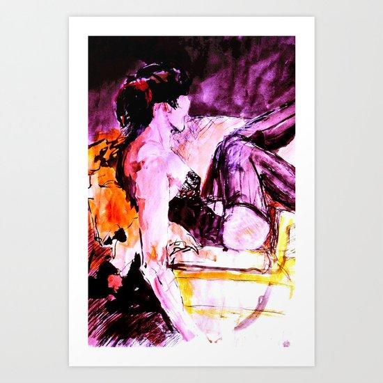Reclining Model Art Print