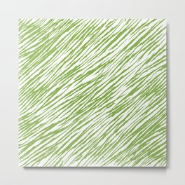 Scratch Greenery - Pantone 2017 Color of the Year Metal Print