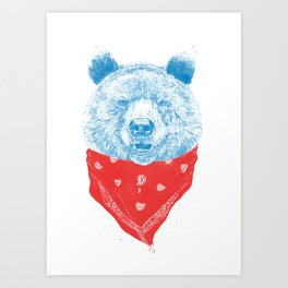 Wild bear (color version) Art Print