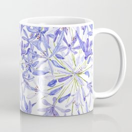 blue purple African lily watercolor painting Coffee Mug