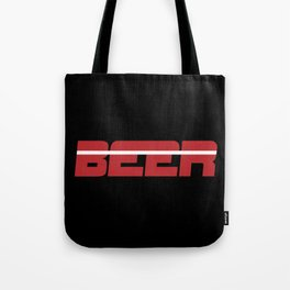 Beer is my Sport (Red Letters White Stripe) Tote Bag