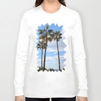 palm trees Long Sleeve T-shirts featuring Palm Trees by Rebecca Bear