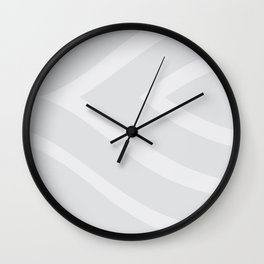 Grey Ripple Wall Clock