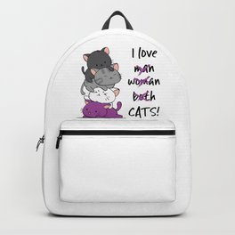 Asexual Pride Cats Anime - Ace Pride Cute Kitten Stack Backpack