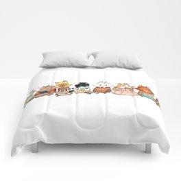 Reading Kitties Comforters