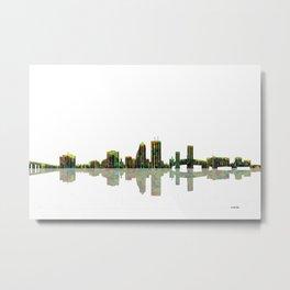 Jacksonville Florida Skyline BW Metal Print