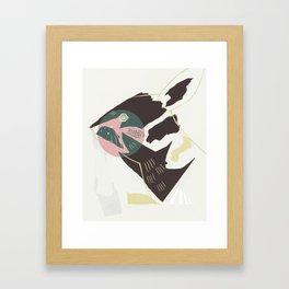 Pink Rabbit Abstract Framed Art Print