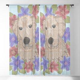 Golden Retriever Sheer Curtain
