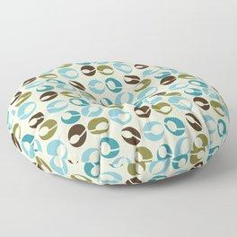 Mid-Century Modern Martini (teal) Floor Pillow
