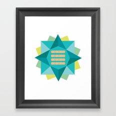 Abstract Lotus Flower - Yoga Print Framed Art Print