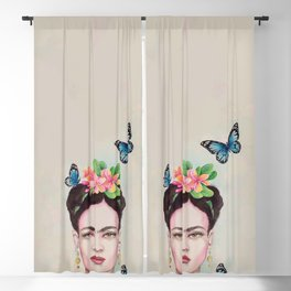 Tropical Frida by Andrea Blackout Curtain