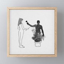 I wonder. Framed Mini Art Print