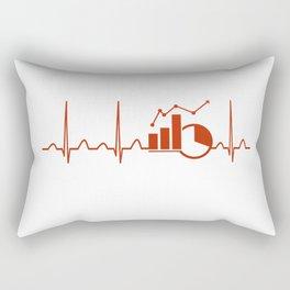 Economics Teacher Heartbeat Rectangular Pillow