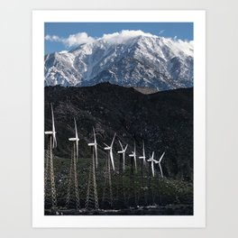 WINTER WINDMILLS Art Print