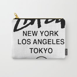 STUSSY World Tour Warp Crew logo Carry-All Pouch