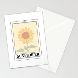 the sunflower tarot card Stationery Cards