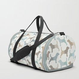 Beagle Silhouettes Pattern - Natural Colors Duffle Bag