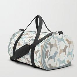 Beagle Silhouettes Pattern - Natural Colors Duffle Bag