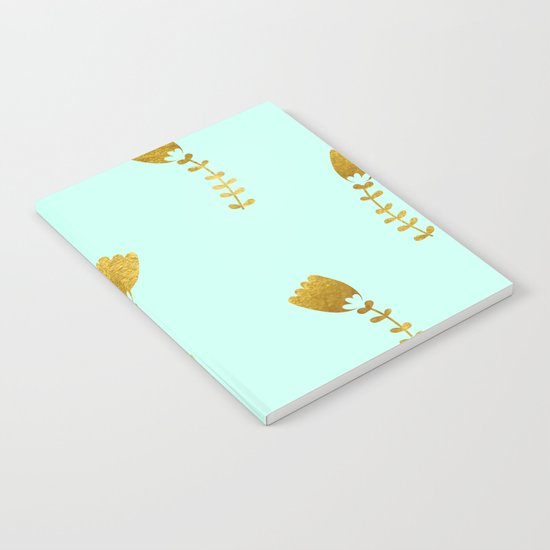 Mint Gold Foil 03 Notebook