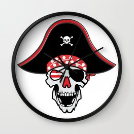 Coo Pirate Skull Head Gift Idea for kids Wall Clock