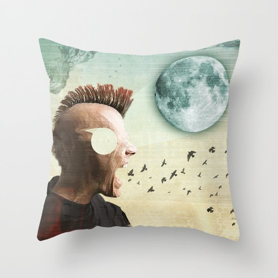 luna mohawk  Throw Pillow