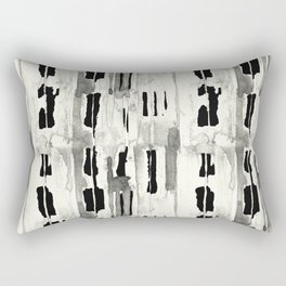 Minimal Black and Cream Abstract Design Rectangular Pillow
