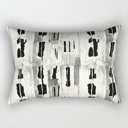 Minimal Black and Cream Abstract Design Rectangular Pillow