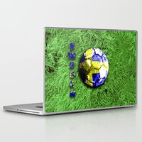 sweden Laptop & iPad Skins featuring Old football (Sweden) by seb mcnulty
