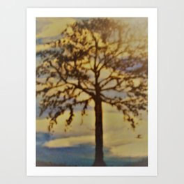 Tree silhouette Art Print