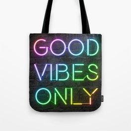 Neon Good Vibes - Rainbow Tote Bag