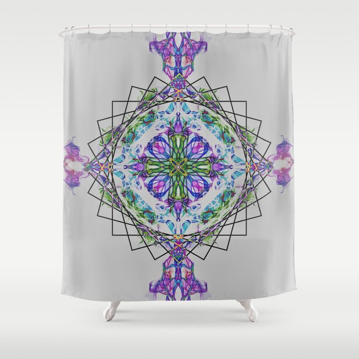 Cross Mandala Shower Curtain