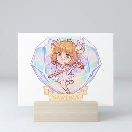 Sakura Diamond Gem Mini Art Print