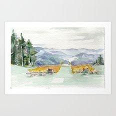 San Sophia Watercolor Art Print