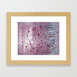 Strawberry Shake in My Milk Framed Art Print