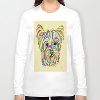 yorkie Long Sleeve T-shirts featuring Yorkshire Terrier - YORKIE! by EloiseArt