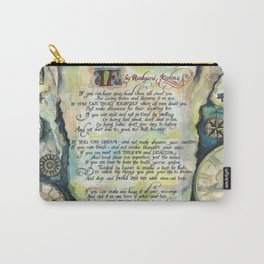 "Calligraphy of the poem ""IF"" by Rudyard Kipling Carry-All Pouch"